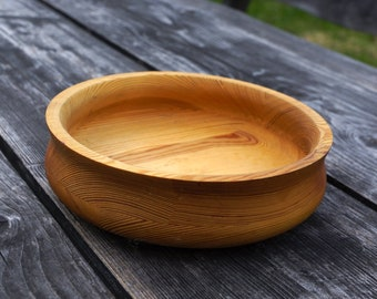Swedish Handmade Wooden bowl Wood bowl Vintage kitchen storage Rustic Table decor Wood Candy Dish Serving Bowl Country Farmhause decor