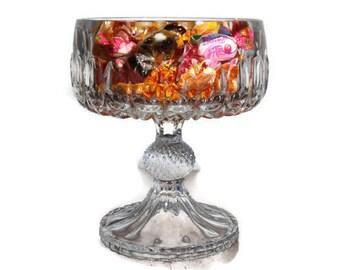 Trifle bowl pedestal etsy