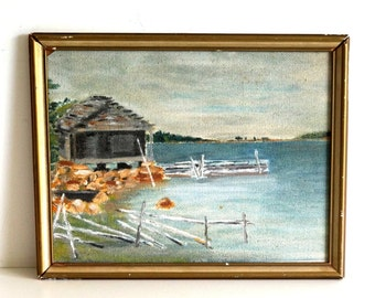 Swedish  painting Landscape painting, Painting on canvas, Home decor, Wall decor. Original artwork. Art for the wall. Scandinavian Landscape