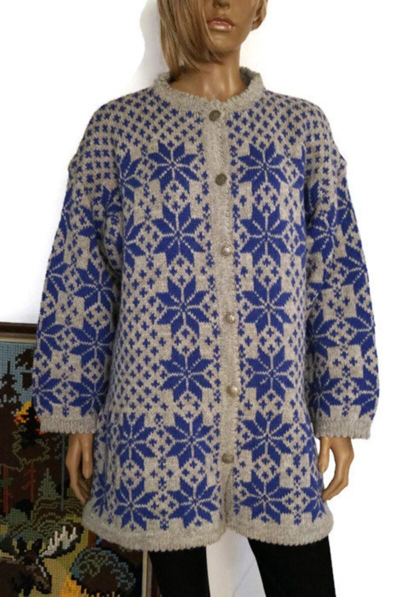 5df4525d07c861 Vintage Norwegian womens Cardigan Handmade Scandinavian