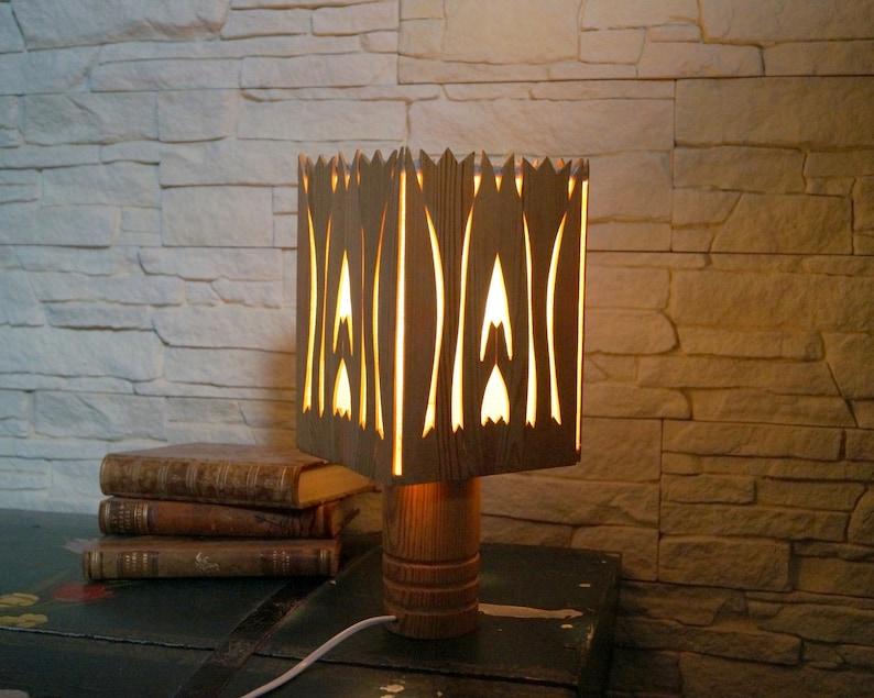 Vintage Swedish Night Lamp Small Wooden Table Lamp Wood Lamp Etsy