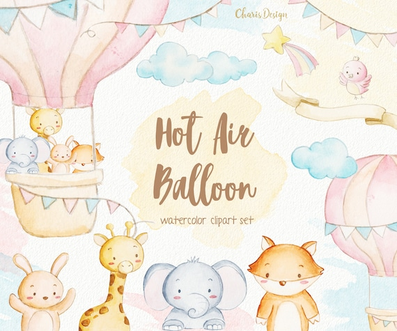 Download Illustration Hot Air Balloon Watercolor Wallpapers