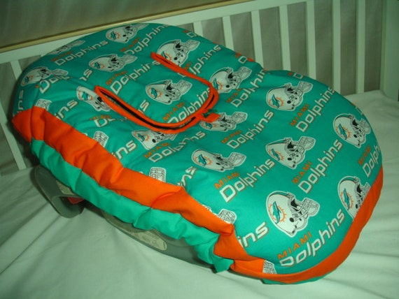 Stupendous Miami Dolphins Infant Car Seat Carrier Cover Also In Pink Made With Nfl Miami Dolphins Fabric New Fits All Infant Carriers Pabps2019 Chair Design Images Pabps2019Com