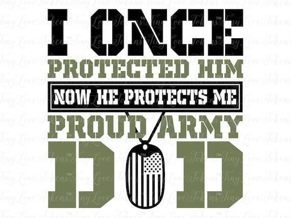 Proud Army Dad Son Design Svg Dxf Pdf Jpeg Eps Etsy