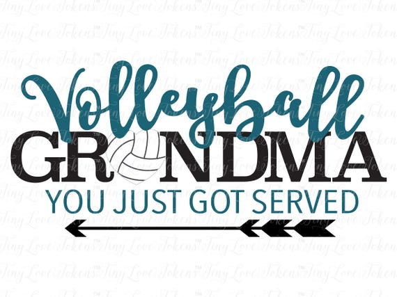 Volleyball Grandma Design Svg Dxf Eps Pdf Jpg Etsy