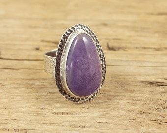 Burro Creek Jasper cabochon and Sterling Silver ring, ring size 7.5, Burro Creek gemstone, Burro Creek Agate
