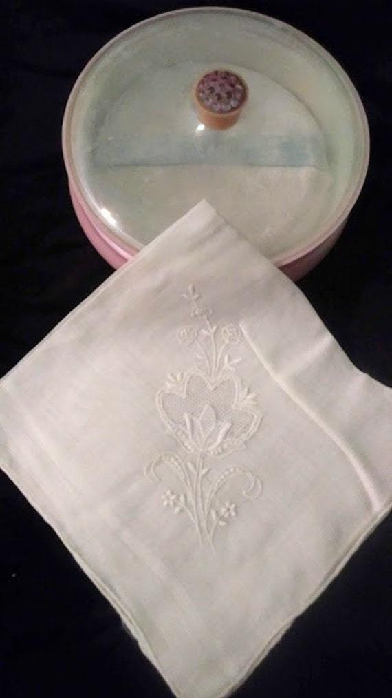 Vintage Embroidered Fine Cotton Handkerchief Something Old