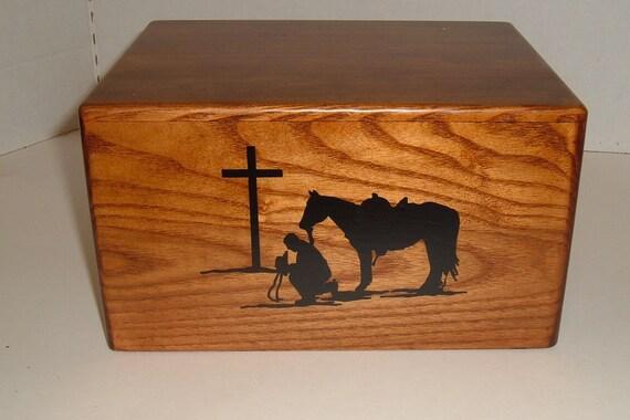 PRAYING COWBOY urn