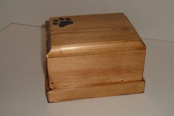 Pet cremation urn soild wood (pine)