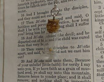 Mustard Seed in a Bottle Necklace