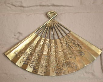 Brass Fan Decor