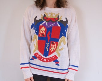SALE! Vintage Royalty Sweater