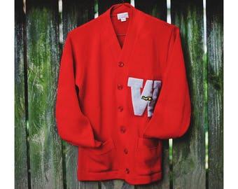 Vintage W Letterman Sweater   1950s Wool Letterman Sweater