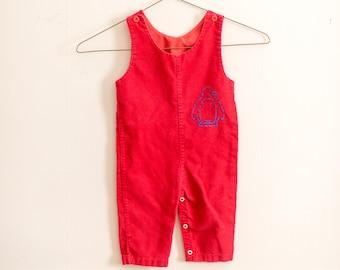 Vintage Corduroy Overalls Kids 12 Months
