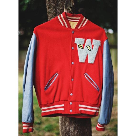 Vintage Letterman Varsity Jacket | Wool and Leathe