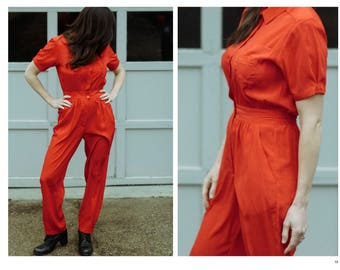Vintage Red Jumpsuit Small   Red One Piece Suit