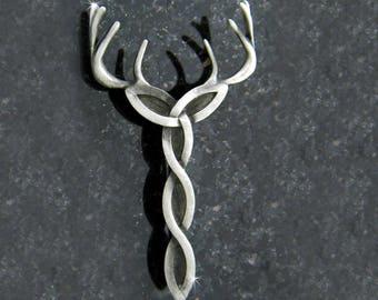 Kilt Pin,Celtic Royal Trinity Stag Kilt Pin, Scottish Kilt Pin, Irish Kilt pin, Celtic Jewelry, Stag kilt pin(7014rp)