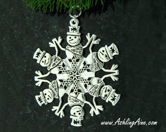 Celtic Snowman SnowWonders® Snowflake Ornament, 5801, Irish Snowman, Shamrock Snowman, Irish ornament, Snowman, Celtic ornament Christmas