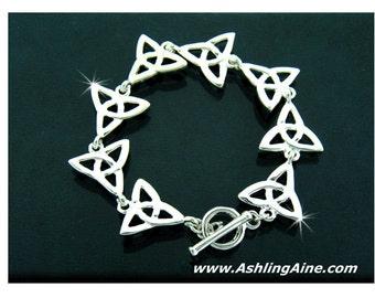 Celtic Trinity Knot Toggle Bracelet (#JPEW5853), Irish Bracelet, Scottish Toggle Bracelet, Christian Trinity Bracelet, Bridesmaid Gift