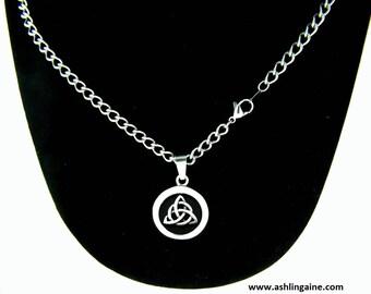Trinity pendant etsy trinity strength pendant wcurb chain celtic pendant celtic jewelry trinity pendant trinity disc pendants120 aloadofball Gallery