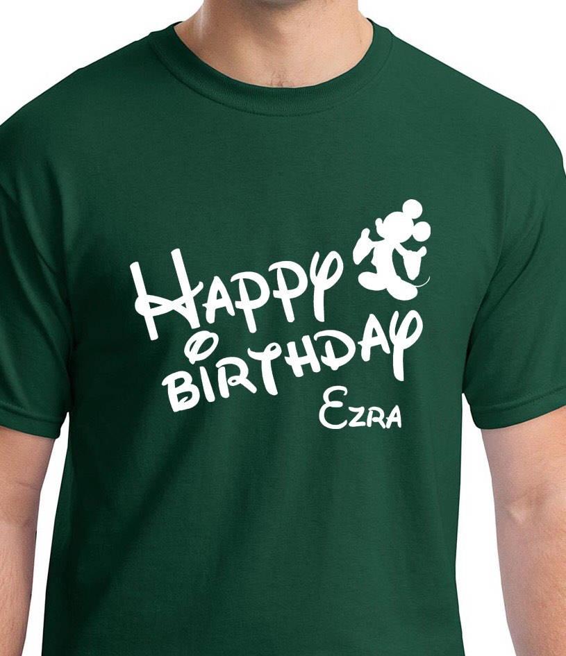 Happy Birthday Disney Shirts Celebrate A Style Family Custom Personalized Vacation