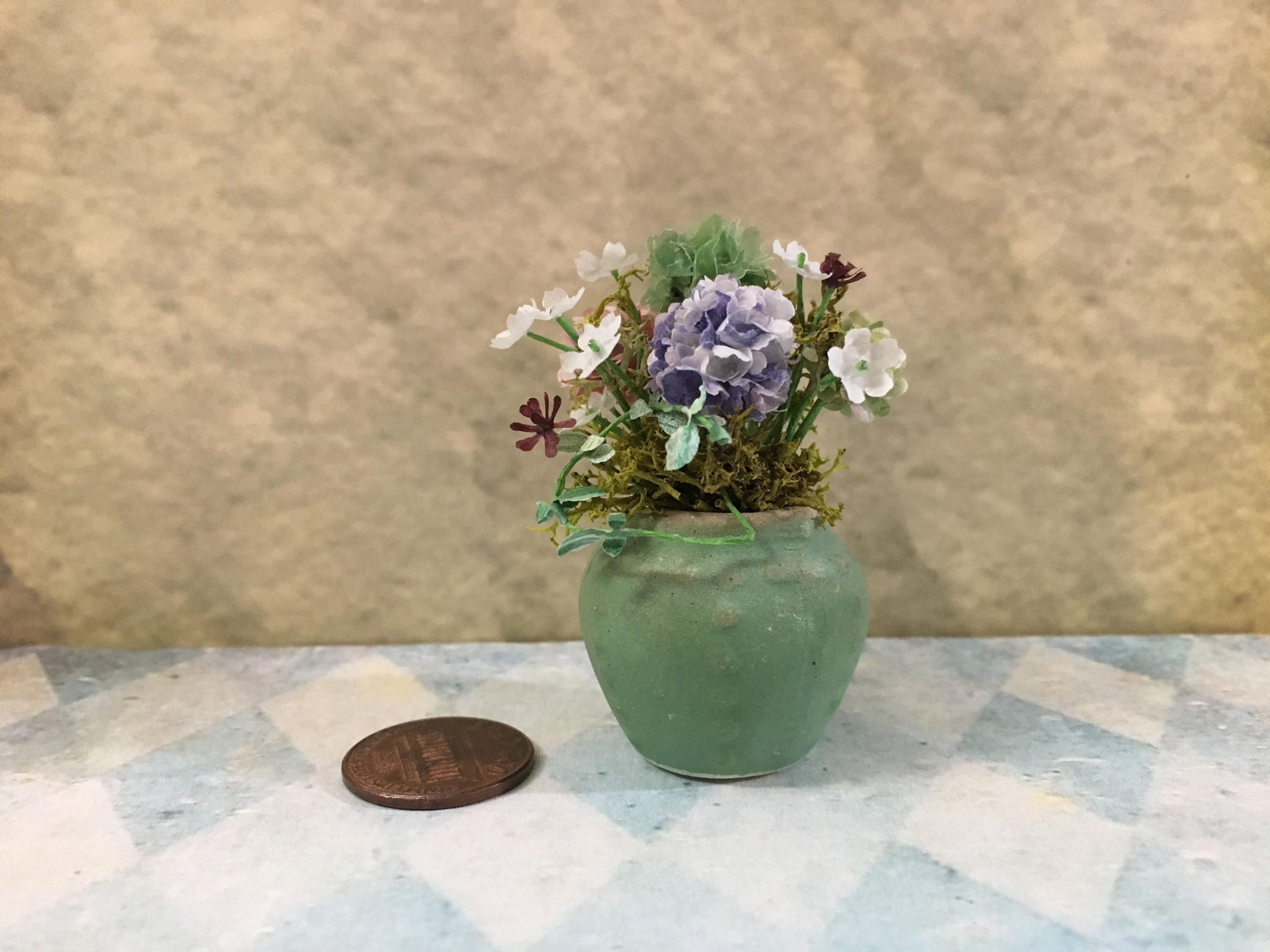 Dollhouse Flower Box Miniature Garden BJD 1:12 Dollhouse Miniature Log Planter