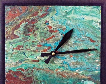 Teal & Rust Clock