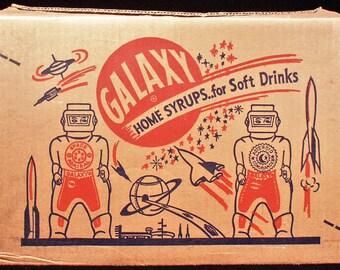 One Dozen Origianl Vintage 1950s Galaxy Home Syrup botttles