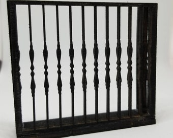 Miniature Dollhouse Julliette wrought iron style balcony 1:12 scale