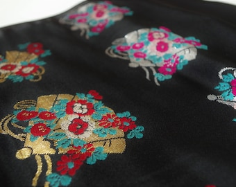 A part of the obi fabric made by old.   Embroidery obi fabric It will inspire your creation.