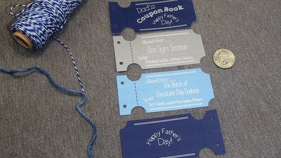 custom fathers day coupon book personalized gift birthday gift etsy