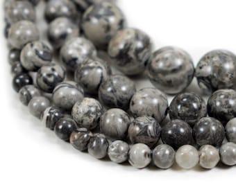 "Natural Scenery Jasper Beads 4mm 6mm 8mm 10mm 12mm Round Natural 15.5"" full strand Wholesale Gemstones"