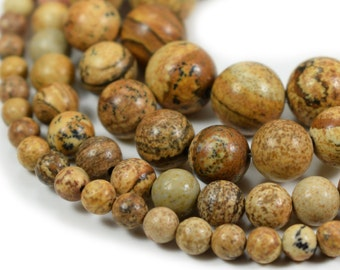 Jewelry & Accessories Natural Stone Beads Map Jaspers Round Beads For Jewerly Making Bracelet Necklace Accessories 4 6 8 10 12mm Wholesale Bijoux Various Styles Beads