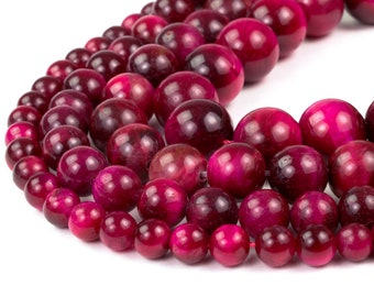 "Pink Tiger Eye Beads 4mm 6mm 8mm 10mm 12mm Wholesale Round Gemstone 15.5"" Full Strand mala stones"
