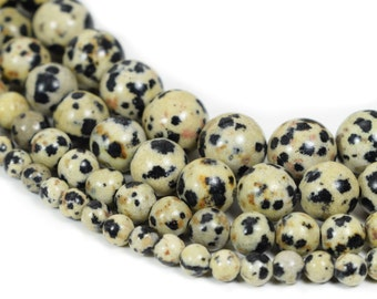 Bracelet Jewelry Making Dalmatian Beads Wholesale Beads,Jewelry Findings,4mm 6mm 8mm 10mm Spotted Jasper Beads Natural Stone Loose Beads