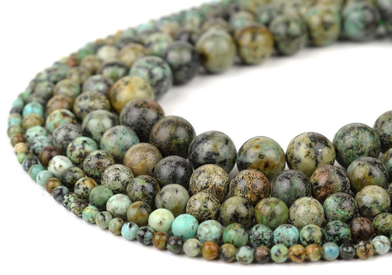 Natural African Turquoise Beads Full 15.5 Strand image 0