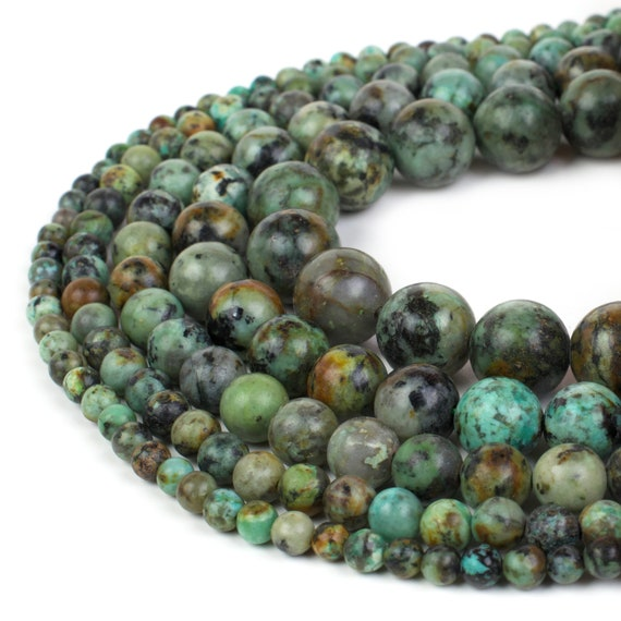 15.5'' 4mm 6mm 8mm 10mm 12mm Natural African Turquoise Gemstone Round Beads Crafts