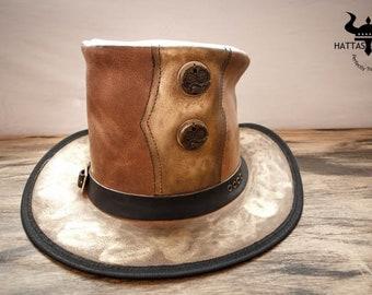 Golden Pilgrim Steampunk Top Hat