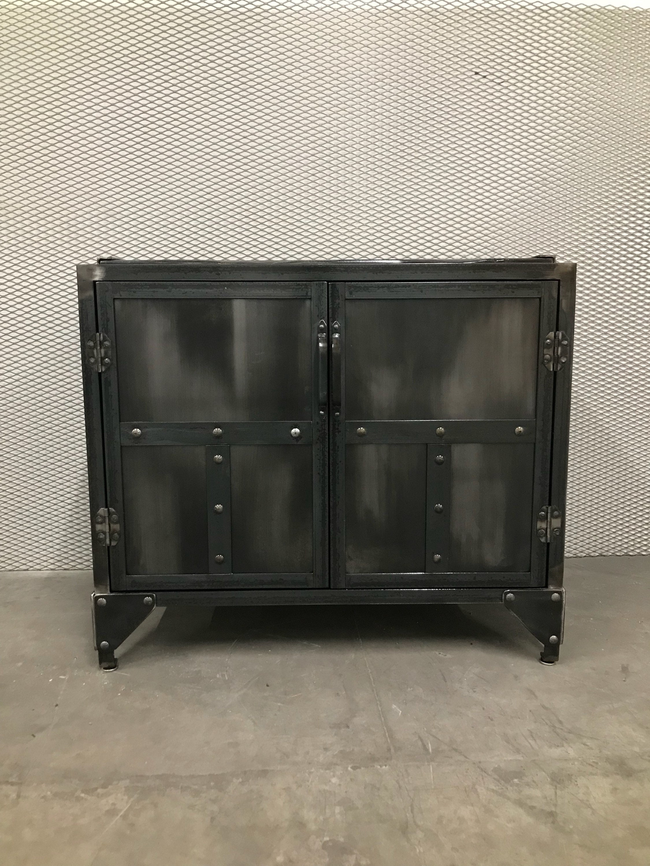 Industrial Nightstand End Table