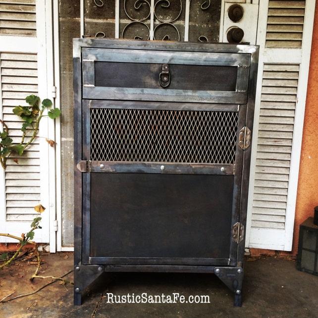 Charmant Industrial Steel Liquor Cabinet Powder Room Sink/ Vanity | Etsy