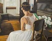 Personal Portrait, Wedding Portrait, Aniversary Portrait, Child Portrait, Portrait from photo, Oil Painting, Gallery Wrap, Free Shipping