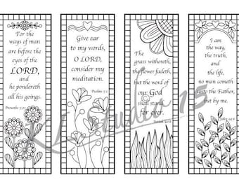picture regarding Free Printable Bible Verse Bookmarks to Color identify Bible Verse Coloring bookmarks5 Quick Obtain Etsy