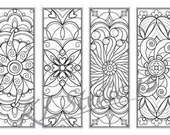 Mandala Coloring Bookmarks Instant Download Relax Designs To Color For Adults Print And