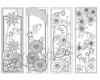 happy spring coloring bookmarks page instant download relax mandala designs to color for adults to print and color