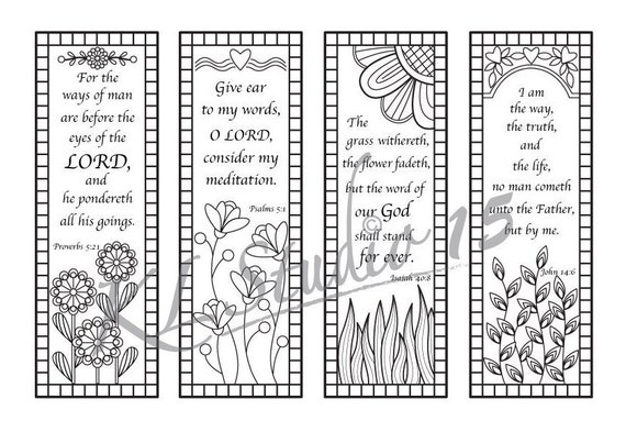 Bible Verse Coloring bookmarks Instant Download | Etsy