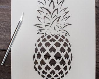 "Papercut Template -""Pineapple"""