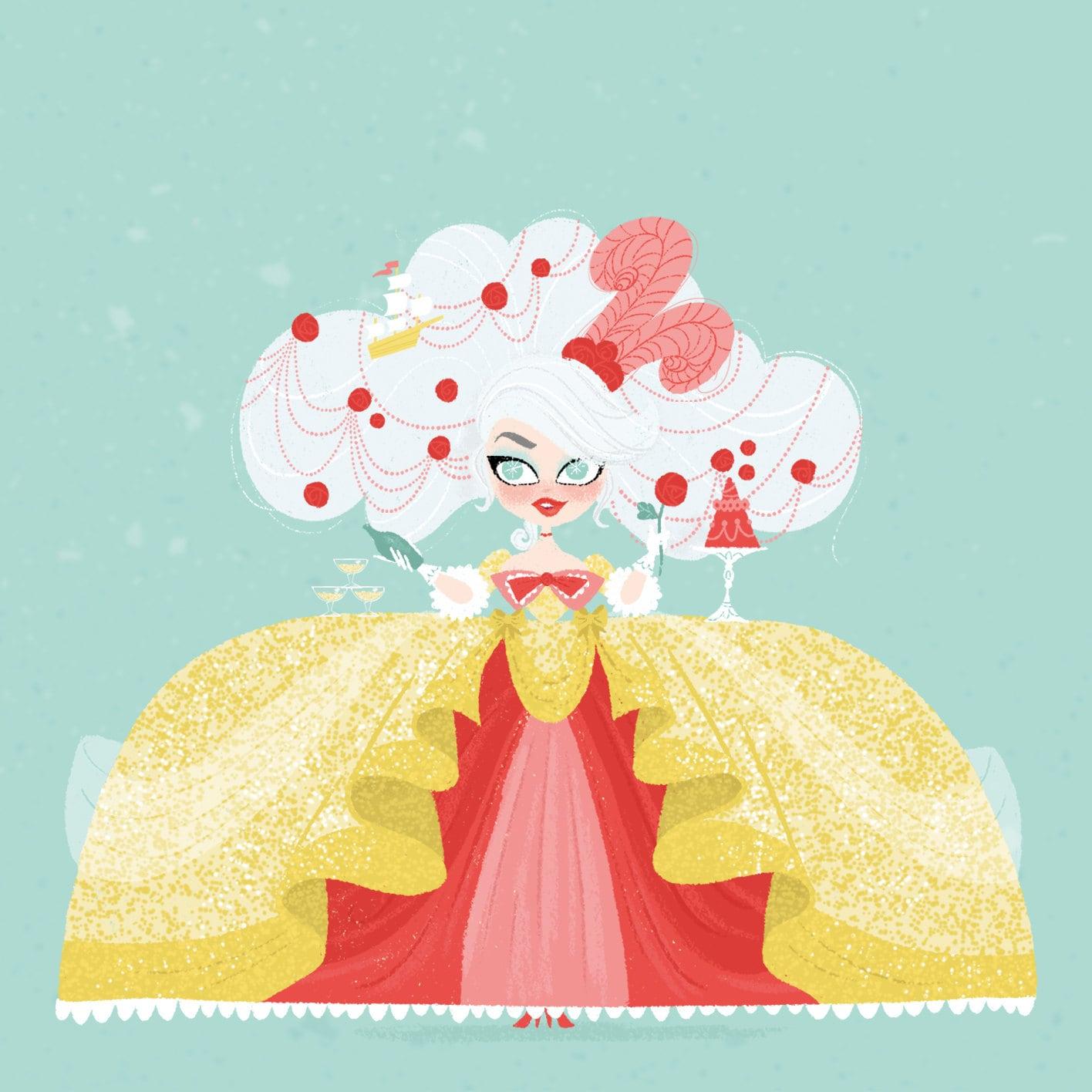 Marie Antoinette Art French Queen Illustration Print