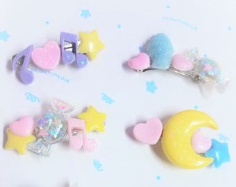 Funky and Fun Pastel Hair Clips! Pick one!