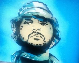 SCHOOLBOY Q portrait on CANVAS TDE Black Hippy Groovy Q Blankface