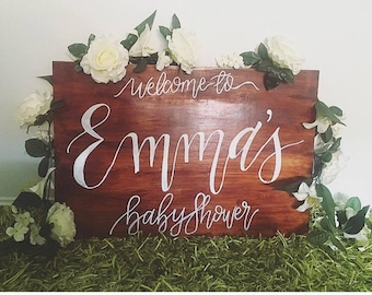 Custom Hand Lettered Wooden Sign